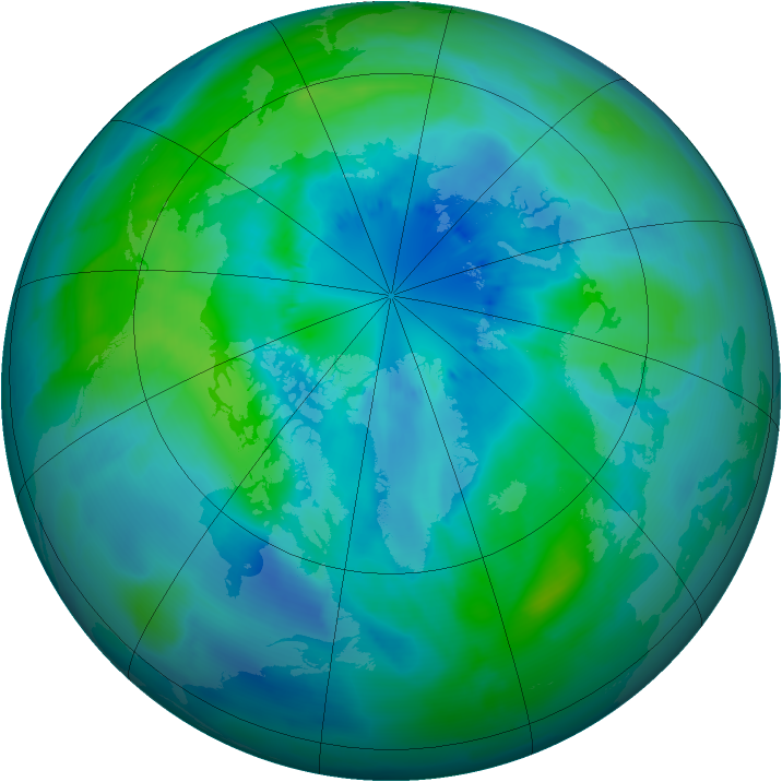 Arctic ozone map for 25 September 2011